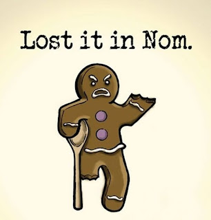 Funny Ginger-bread Man Cartoon - Lost It In Nom