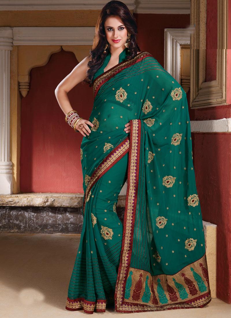 Indian sarees 2012 new trend of indian sarees sarees for New latest design
