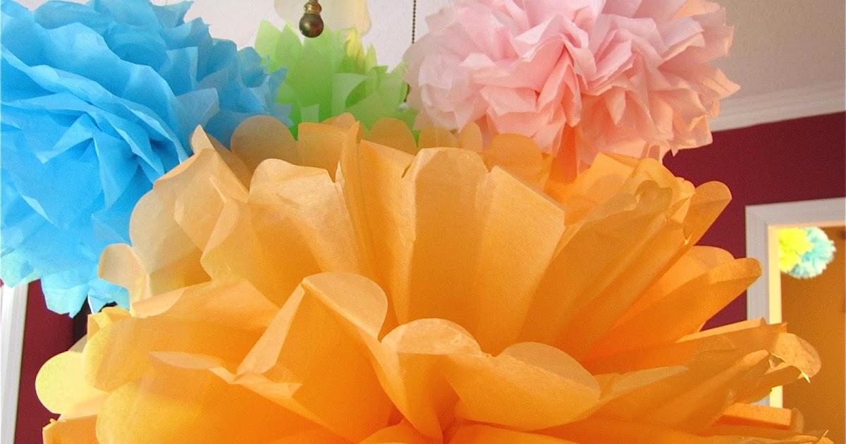 The Modest Homestead Tissue Paper Pom Poms