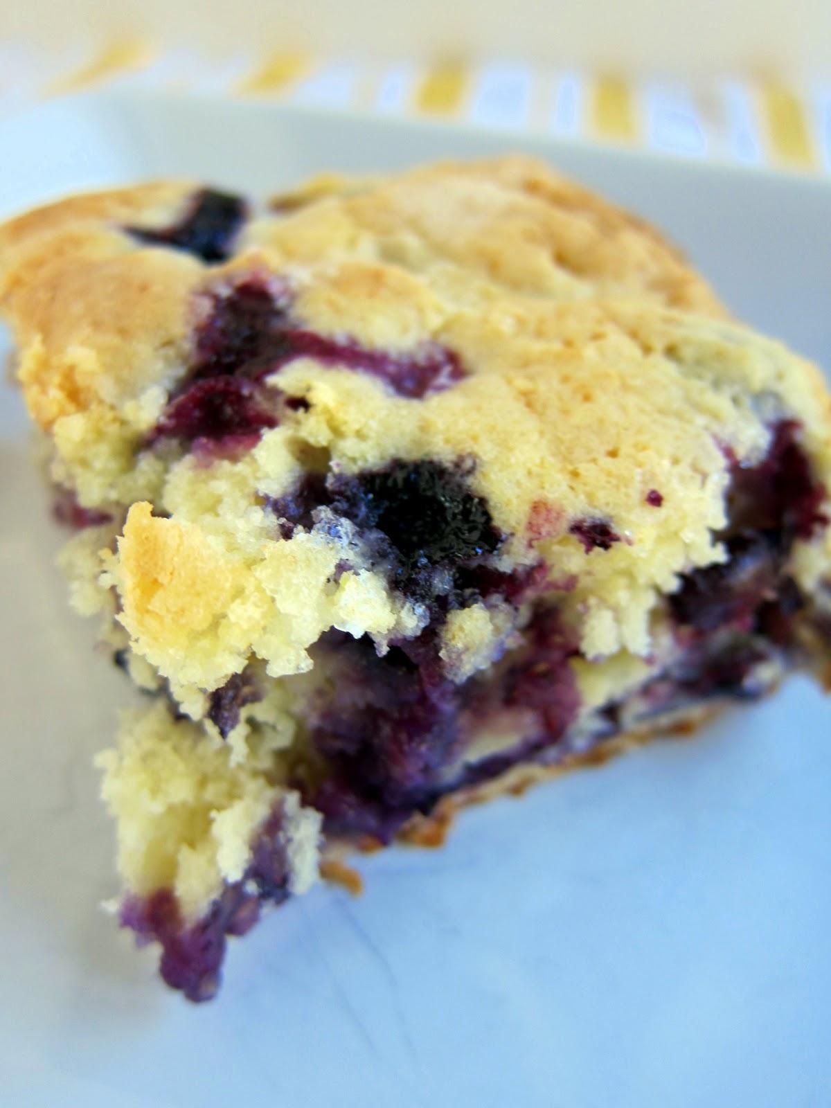 Lemon Blueberry Muffin Cake | Plain Chicken