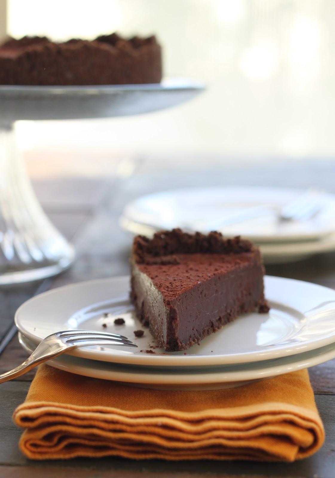 The Cilantropist: Dark Chocolate Truffle Tart