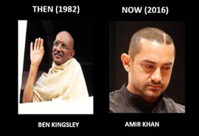 Aamir Khan for the role of Bapu.