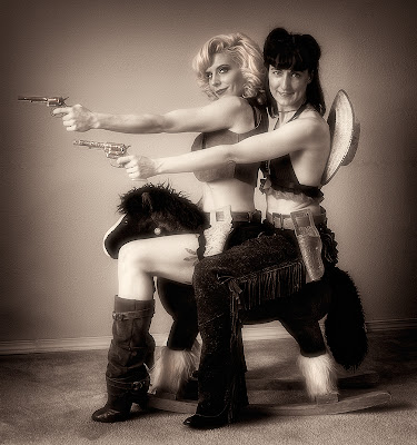 Rodeo Queens, pin up girls, black and white photos.