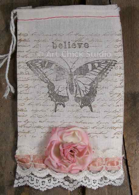 Believe Shabby Chic Pouch