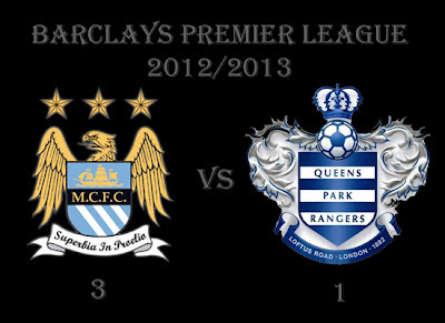 Manchester City (3) vs (1) QPR Barclays Premiership Results 2012
