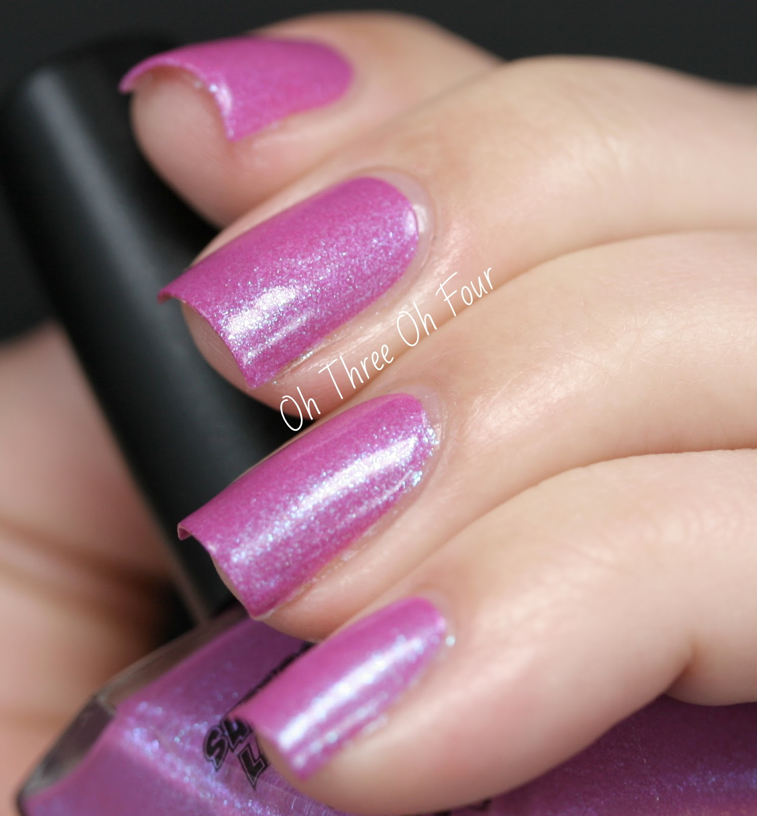 SuperChic Lacquer Fushsure Drive Me Insane Swatch