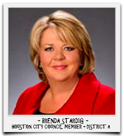 BRENDA STARDIG IS CURRENTLY SERVING HER SECOND TERM