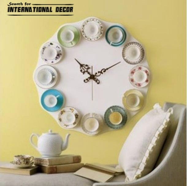 diy wall clock, cool wall clocks,creative wall clocks,cool kitchen clock