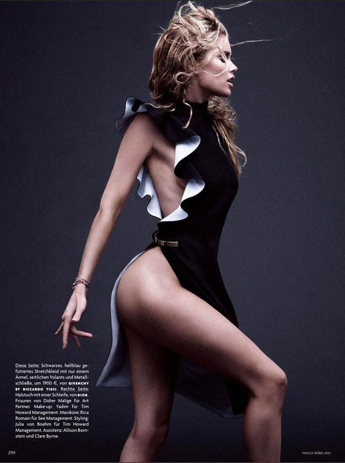 Doutzen Kroes wearing Givenchy in Vogue Germany - March 2013