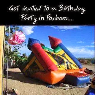 Got invited to a birthday party in foxboro...