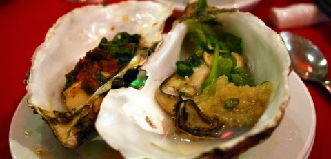 Steamed Oysters with Black Beans and Garlic Sauce