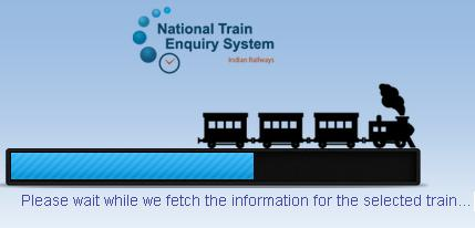 fetching train running information