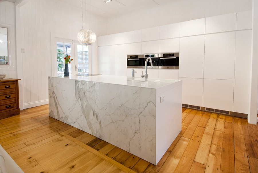Pretty Swanky Digs The Simple Way Calacatta Marble