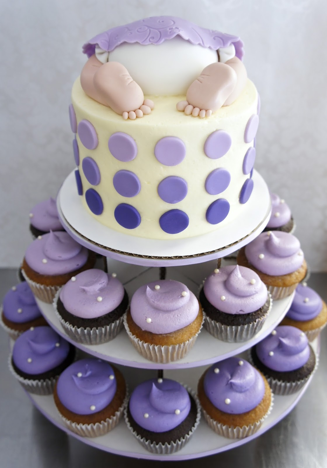 Baby Shower Cakes With Cupcakes ~ Baby mania at half baked co