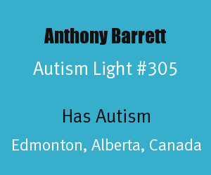 Article Header for Anthony Barrett Autism Light Number 305