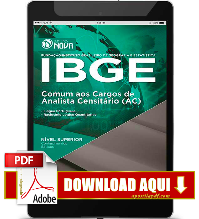 Apostila IBGE Analista Censitário PDF Download 2016