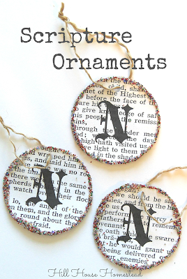 diy scripture ornament