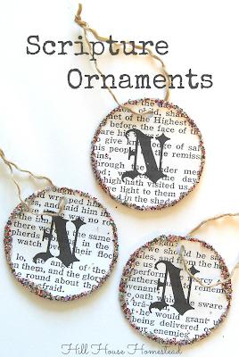 diy scripture ornament