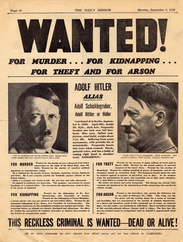 Hitler buscado, vivo o muerto