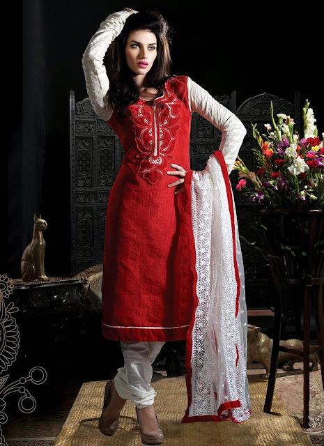 Pakistani cotton dresses 2013