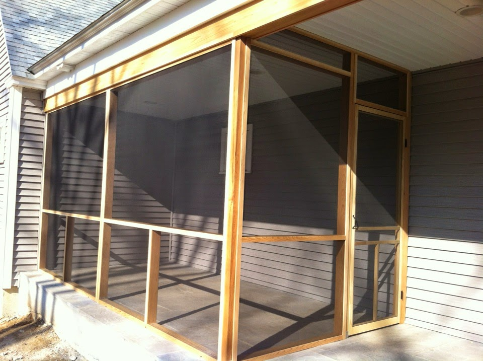 Aluminum screen, nylon screening, bugs, screens, porch, patio, wood, cedar, panels, clean