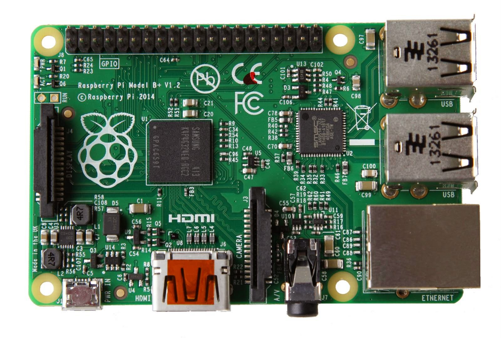 Raspberry Pi B+ front