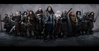 hobbit movie the dwarves together, drużyna krasnoludów z hobbita, thorin, kili, fili, gloin, balin, bombur