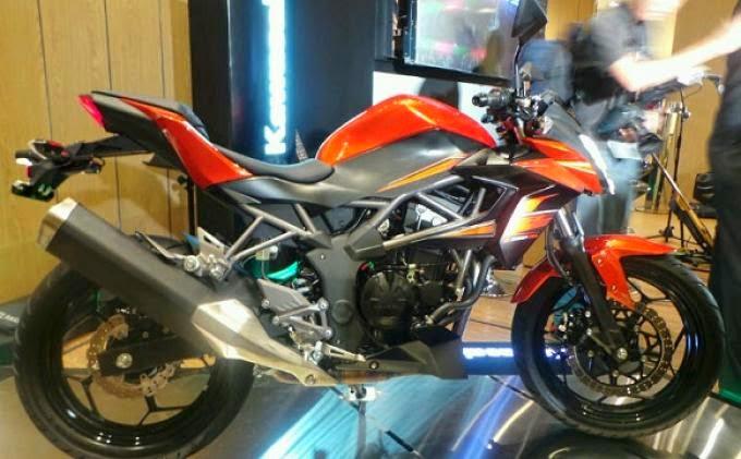 Foto model Kawasaki Naked Z250S terbaru