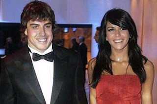 Fernando Alonso And Raquel Del Rosario