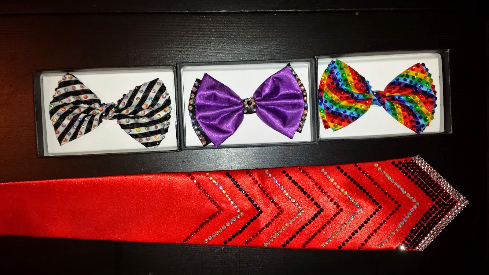 rhinestoned bowties