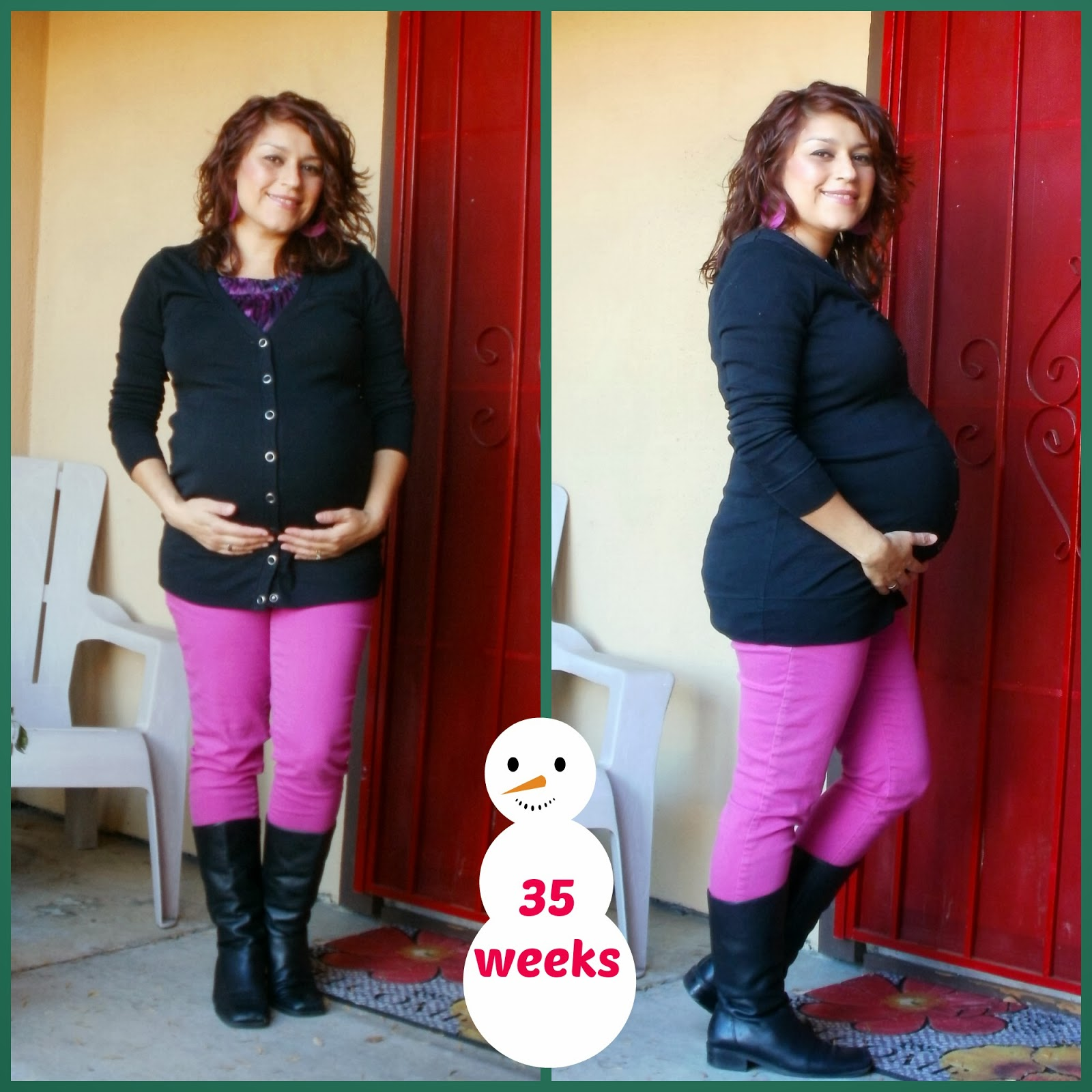 35 weeks, cheap maternity, thrifted maternity