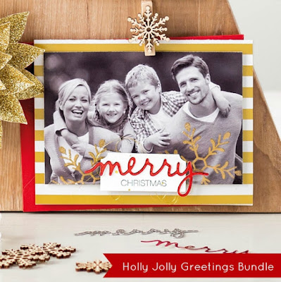 Photo image of simple to create photo Christmas card by Stampin' Up!