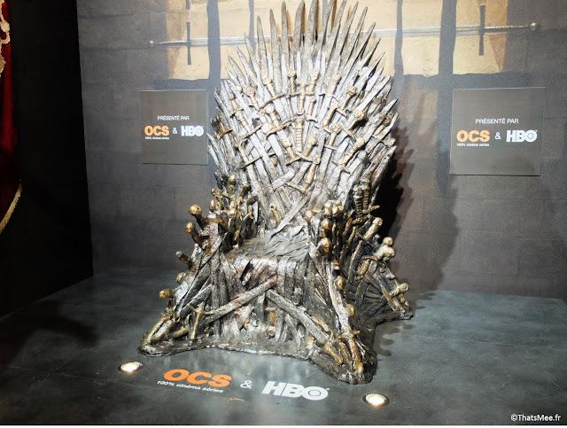 exposition exhibition Games Of Thrones Trone de Fer Paris OCS HBO carrousel de Louvre