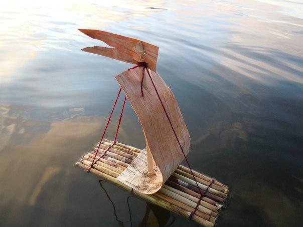 кораблики из природных материалов