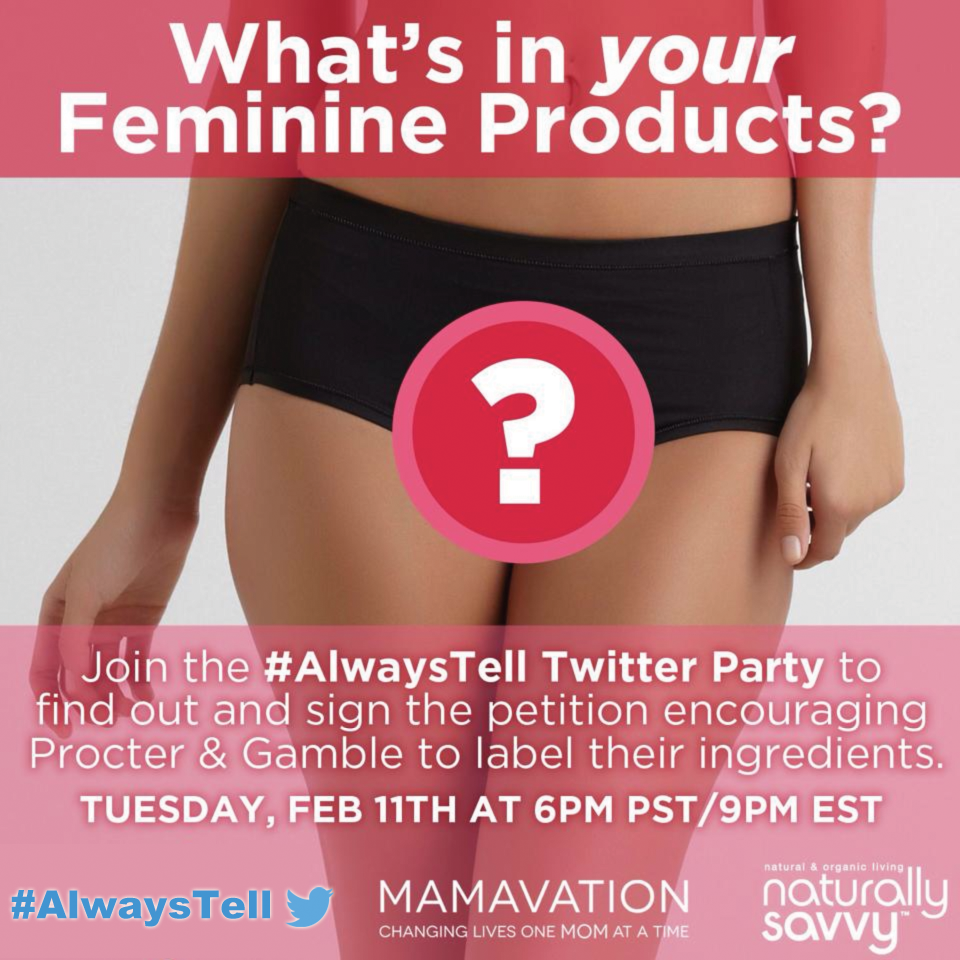 #AlwaysTell Twitter party Tuesday February 11th at 6PM PST