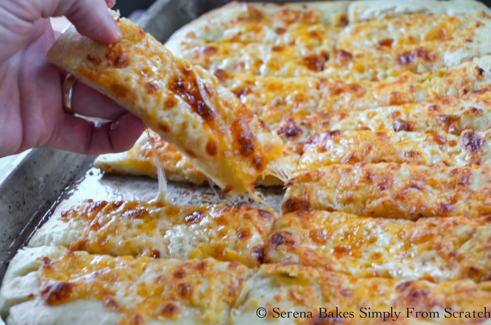 Pizzeria Style Cheesy Breadsticks