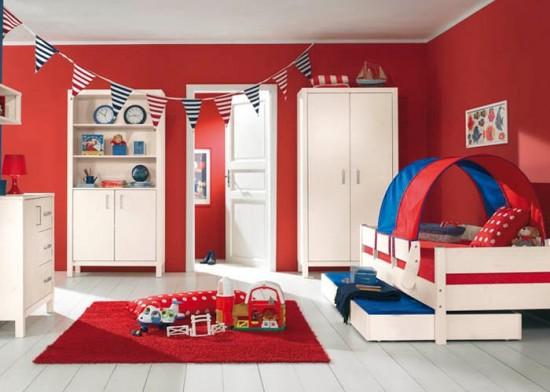 Red boys bedroom ideas the interior designs for Boys red bedroom ideas