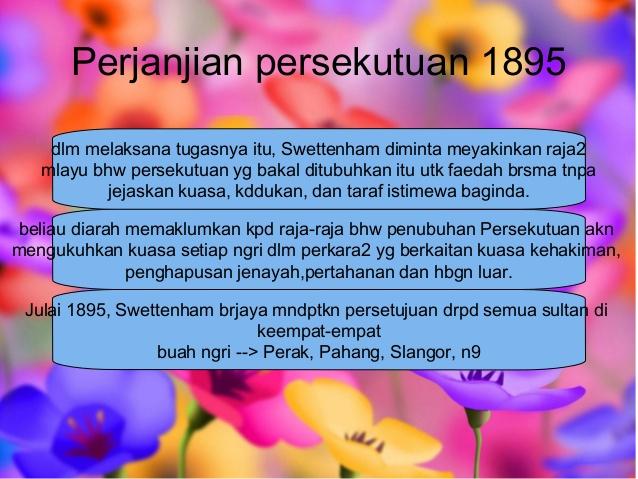 Faktor Termeterainya Perjanjian Persekutuan 1895