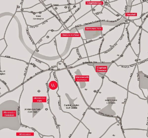 Westfield House @ London Map