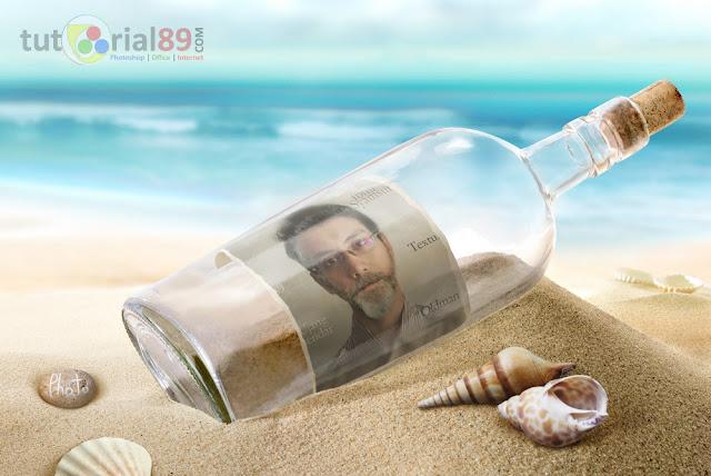 Cara mudah membuat efek foto dalam botol