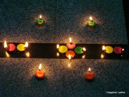 diwali colorful diyas
