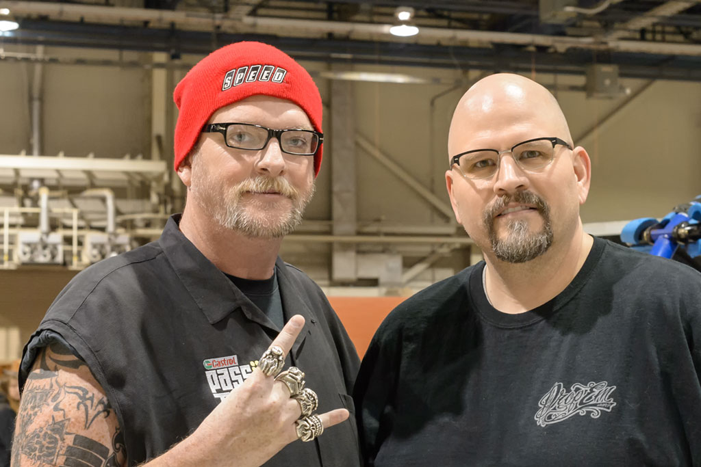"Brett ""Big Schwag"" Wagner and Peg at Motorama"