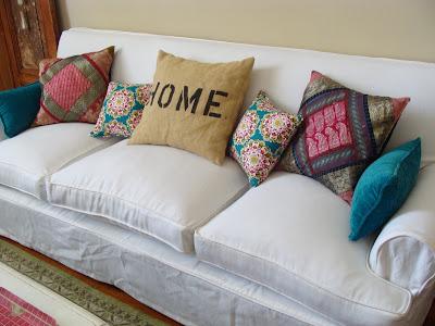 Renovar con fundas deco marce - Funda sofa blanca ...