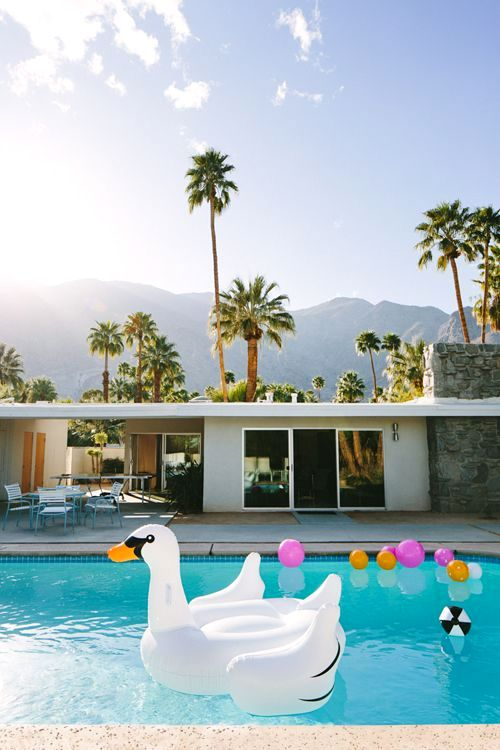 swan pool float party decoration fun summer malibu house