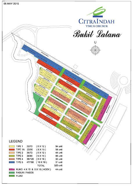 Site Plan Bukit Lantana Citra Indah