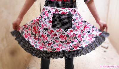 diy cute apron tutorial with pattern
