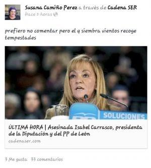 """Susana Camiño: """"Quien siembra vientos recoge tempestades"""""""