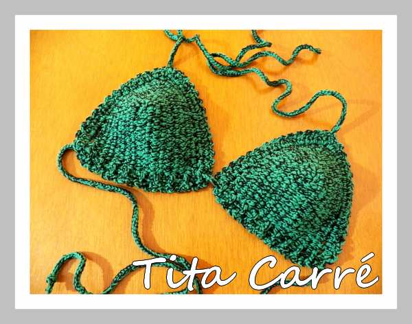 Bikini em 2 tons em Crochet