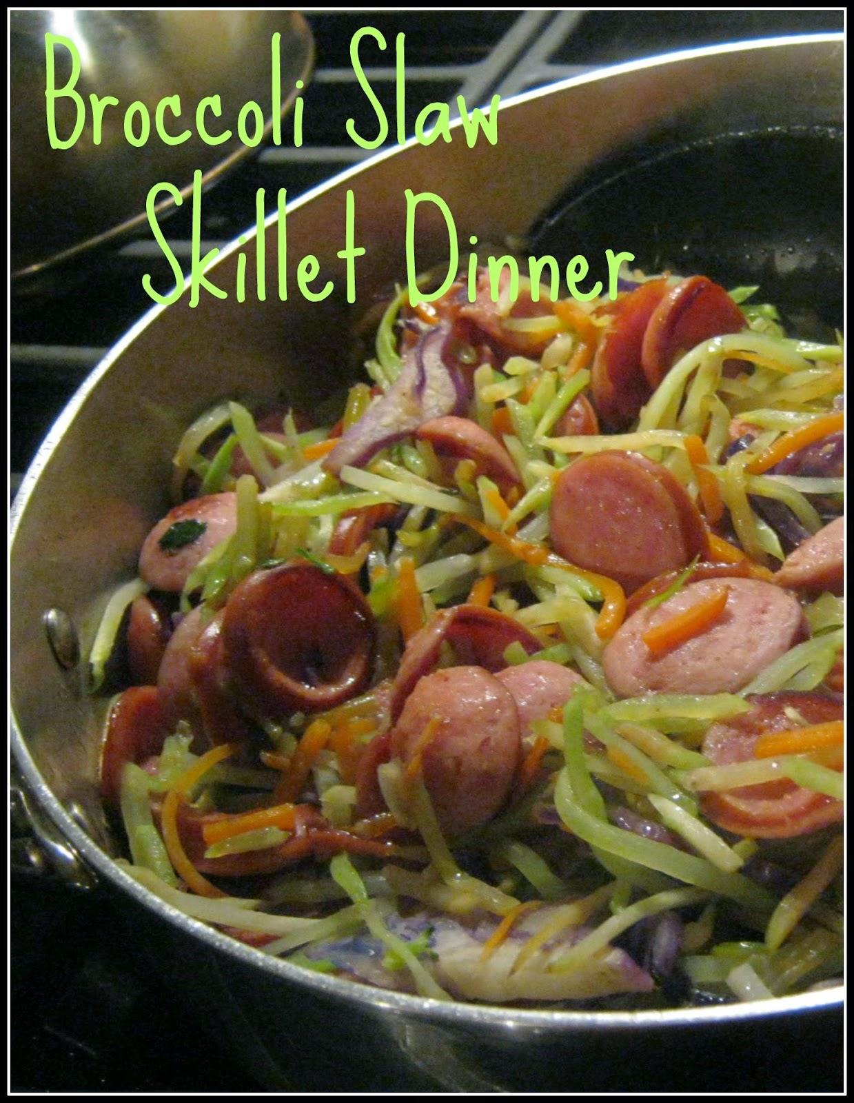 Broccoli Slaw Skillet Dinner Recipe