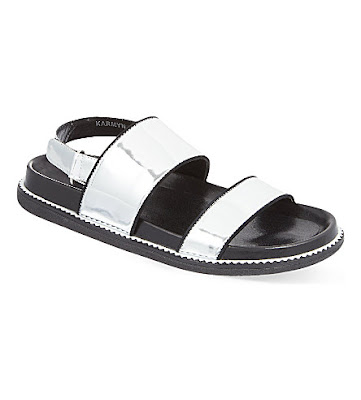 Senso Karmyn silver leather flat sandals from ASOS